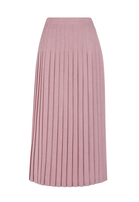 Textured pleat skirt