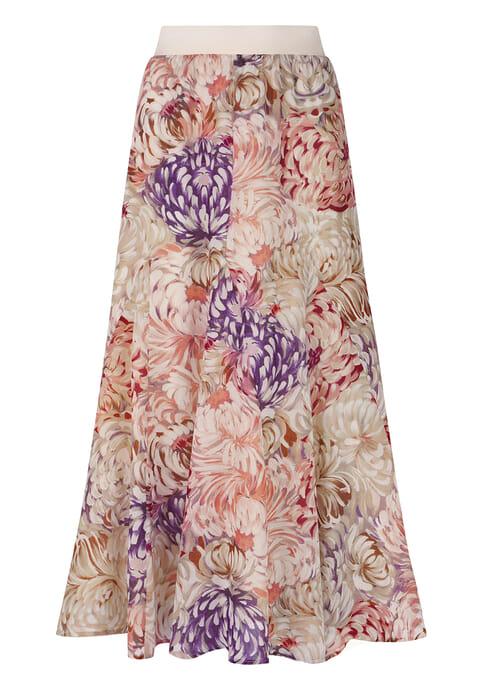 Chiffon printed skirt