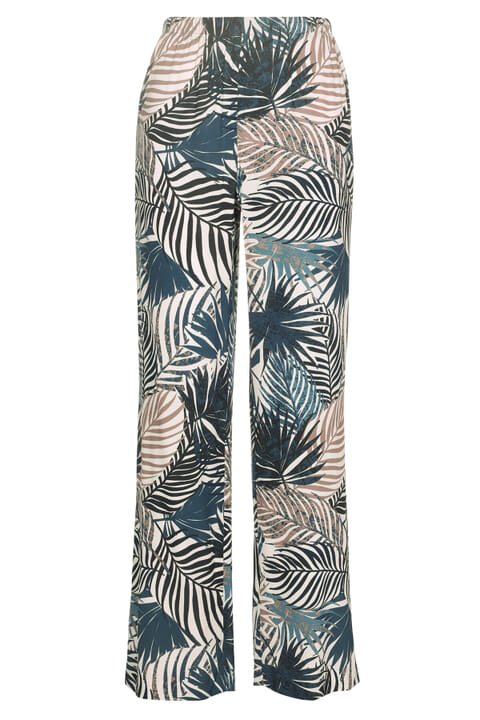 Leaf printed trousers