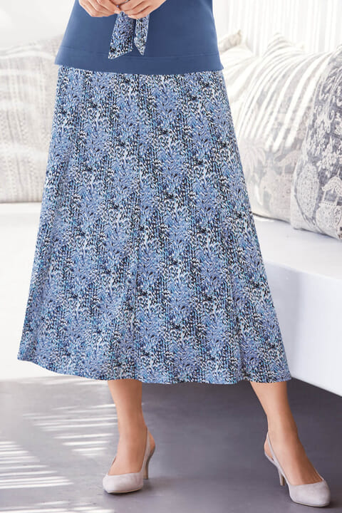 Printed Jersey Skirt