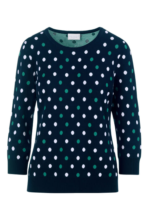 Combed cotton polka dot jumper