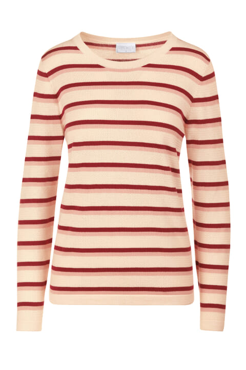 Textured cotton stripe jumper