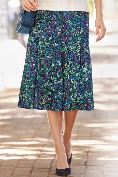 Mini floral panel skirt
