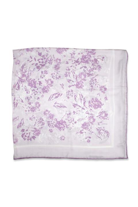 Heritage print silk floral scarf