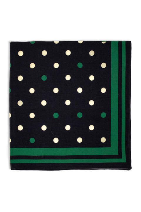 Silk polka dot neckerchief