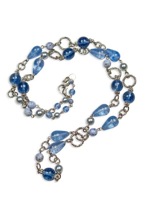 Long Venetian glass bead necklace