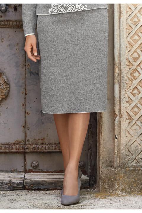 Italian jacquard knit skirt