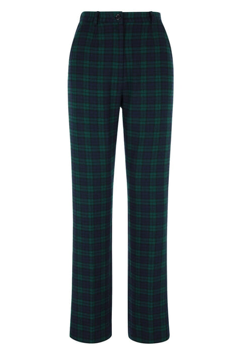 Checked trousers-Navy-18-5869 - Navy